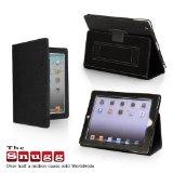 Snugg iPad3 レザーケースカバー フリップスタンド ブラック